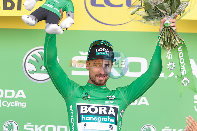 Peter Sagan (SVK) Bora-Hansgrohe retains the points Green Jersey at the end of Stage 10 of the 2019 Tour de France running 217.5km from Saint-Flour to Albi, France. 15th July 2019.<br /> Picture: Colin Flockton   Cyclefile<br /> All photos usage must carry mandatory copyright credit (© Cyclefile   Colin Flockton)