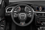 Steering wheel view of a 2010 - 2011 Audi S5 Cabriolet