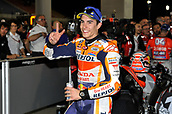 18th March 2018, Losail International Circuit, Lusail, Qatar; Qatar Motorcycle Grand Prix, Sunday race day; Marc Marquez (Repsol Honda) celebrates his 2nd place