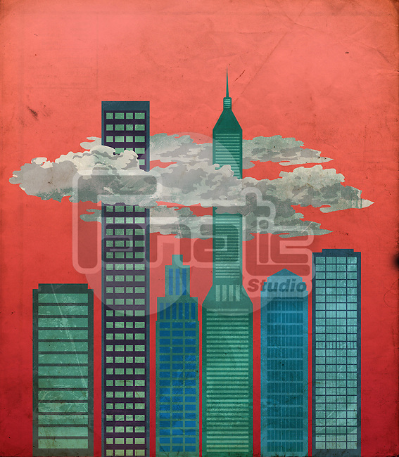 Illustrative image of financial district
