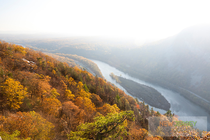 View of the Delaware River from Mt. Tammany, Delaware Water Gap, New Jersey