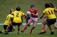 Brittany Waters in action during the 2017 International Women's Rugby Series rugby match between Canada and Australia Wallaroos at Smallbone Park in Rotorua, New Zealand on Saturday, 17 June 2017. Photo: Dave Lintott / lintottphoto.co.nz