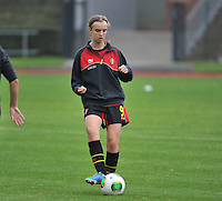 20131013 - BAMBERG , GERMANY : Belgian Ellen Lagrange pictured during the female soccer match between Switzerland Women U17 and Belgium U17 , in the second game of the Elite round in group 6 in the UEFA European Women's Under 17 competition 2013 in the Fuchs Park Stadion - Bamberg  Sunday 13 October 2013. PHOTO DAVID CATRY