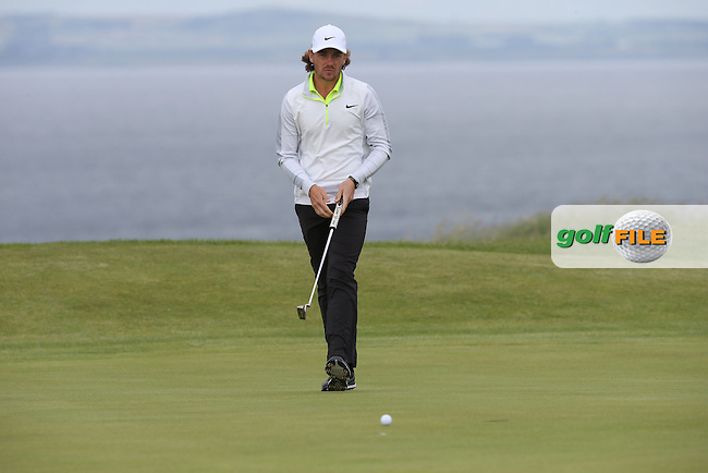 Tommy Fleetwood (ENG) carded a 67 to be in contention during Round Three of the 2015 Aberdeen Asset Management Scottish Open, played at Gullane Golf Club, Gullane, East Lothian, Scotland. /11/07/2015/. Picture: Golffile | David Lloyd<br /> <br /> All photos usage must carry mandatory copyright credit (&copy; Golffile | David Lloyd)