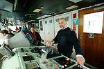 Alexander Pruss capitaine du M/V Grigoriy Mikheev, un ancien navire hydrographique russe