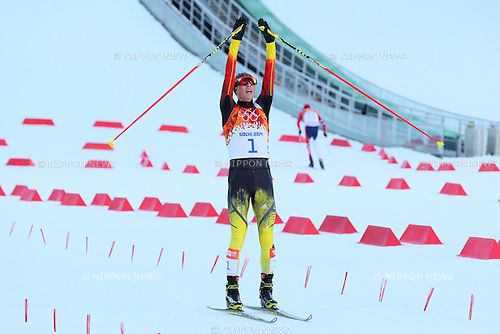 Eric Frenzel (GER), <br /> FEBRUARY 12, 2014 - Nordic Combined : <br /> Individual Gundersen NH/10km <br /> at &quot;RUSSKI GORKI&quot; Jumping Center <br /> during the Sochi 2014 Olympic Winter Games in Sochi, Russia. <br /> (Photo by Yohei Osada/AFLO SPORT)