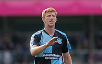 Ryan Sellers of Wycombe Wanderers during the Sky Bet League 2 match between Wycombe Wanderers and Hartlepool United at Adams Park, High Wycombe, England on 5 September 2015. Photo by Andy Rowland.