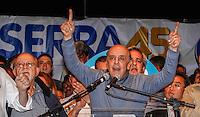 SAO PAULO, SP, 30 SETEMBRO 2012 - ELEICOES SP - JOSE SERRA - O candidato a prefeitura de Sao Paulo Jose Serra, pelo PSDB durante comicio na Vila Matilde, neste domingo, 30. (FOTO: VANESSA CARVALHO / BRAZIL PHOTO PRESS).