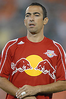 New York Red Bulls forward Youri Djorkaeff (10) during the team presentation. DC United defeated the New York Red Bulls 4-3. DC United earned a top seed in the 2006 MLS Playoffs and will enjoy home field advantage for the entire Eastern Conference Playoffs. Saturday, September 23, 2006, at RFK Stadium.