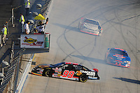 Sept 19, 2008; Dover, DE, USA; NASCAR Camping World Series East driver Bryon Chew spins during the Sunoco 150 at Dover International Speedway. Mandatory Credit: Mark J. Rebilas-