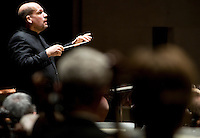 Dallas Symphony Orchestra Conductor Jaap van Zweden (cq) leads a performance of Requiem by Verdi at the Eugene McDermott Concert Hall in the Meyerson Symphony Center in Dallas, Texas, at 8:12PM Wednesday, April 24, 2008. The performance included a full orchestra and also included the Dallas Symphony Chorus...MATT NAGER/SPECIAL CONTRIBUTER