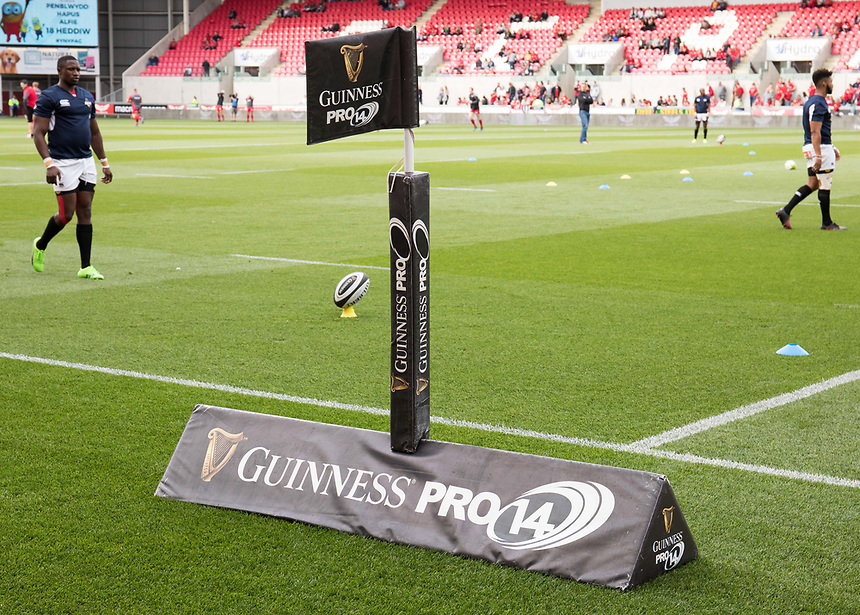 A general view of Parc Y Scarlets, home of Scarlets branding <br /> <br /> Photographer Simon King/CameraSport<br /> <br /> Guinness Pro14 Round 1 - Scarlets v Southern Kings - Saturday 2nd September 2017 - Parc y Scarlets - Llanelli, Wales<br /> <br /> World Copyright &copy; 2017 CameraSport. All rights reserved. 43 Linden Ave. Countesthorpe. Leicester. England. LE8 5PG - Tel: +44 (0) 116 277 4147 - admin@camerasport.com - www.camerasport.com