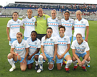 Starting eleven of the Chicago Red Stars during a WPS match against the Washington Freedom at the Maryland Soccerplex, in Boyds Maryland on June 12 2010.The game ended in a 2-2 tie.