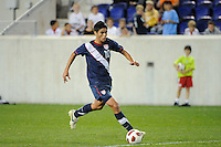 Alejandro Guido (10) of the USA. The USMNT U-17 defeated New York Red Bulls U-18 4-1 during a friendly at Red Bull Arena in Harrison, NJ, on October 09, 2010.