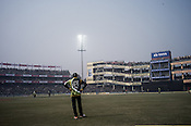 The final match at the Firozshah Kotla cricket stadium in New Delhi, India.