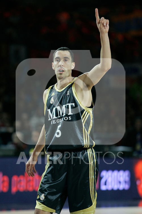 Real Madrid's Pablo Prigioni during Spanish Basketball King's Cup match.(ALTERPHOTOS/Acero)