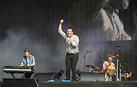 Future Islands Perform during British Summertime Music Festival at Hyde Park, London, England on 18 June 2015. Photo by Andy Rowland.