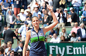 7th June 2017, Roland Garros, Paris, France; French Open tennis championships;  Kristyna Pliskova  (CZE) during her 2 set win against Garcia (FRA)