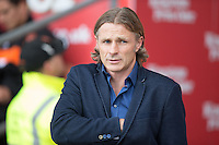 Gareth Ainsworth Manager of Wycombe Wanderers during the Sky Bet League 2 match between Blackpool and Wycombe Wanderers at Bloomfield Road, Blackpool, England on 20 August 2016. Photo by James Williamson / PRiME Media Images.