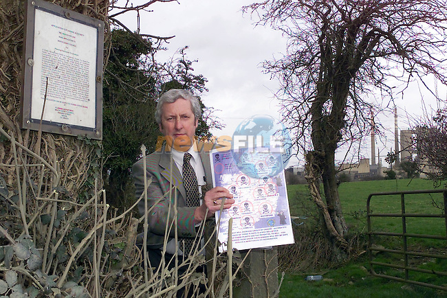 Pat O'Brien the Anti Incinerator campaigner holding a map of the proposed other incinerators around the country after the decision by An Bord Pleanala to grant planing permission at the carrinstown site to indaver Ireland...Picture Fran Caffrey Newsfile...This Picture is sent to you by:..Newsfile Ltd.The View, Millmount Abbey, Drogheda, Co Louth, Ireland..Tel: +353419871240.Fax: +353419871260.GSM: +353862500958.ISDN: +353419871010.email: pictures@newsfile.ie.www.newsfile.ie