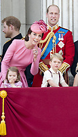 17 June 2017 - London, England - Prince Harry, Prince William, Princess Kate, Duchess Kate, Duchess of Cambridge and Prince George and Princess Charlotte. The ceremony of the Trooping the Colour, marking the monarch's official birthday, in London. Photo Credit: PPE/face to face/AdMedia