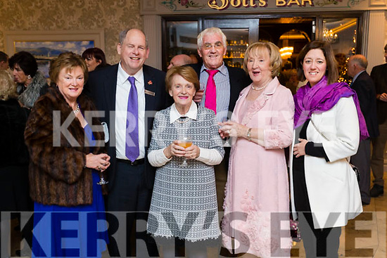 Pictured at the Thanksgiving Dinner at The Rose Hotel, Tralee, on Thursday, November 23rd last.Maura Fitzgerald, Dick Henggeler, Anne O'Shea, Noel Power Assumpta Power and Sinead O'Shea,