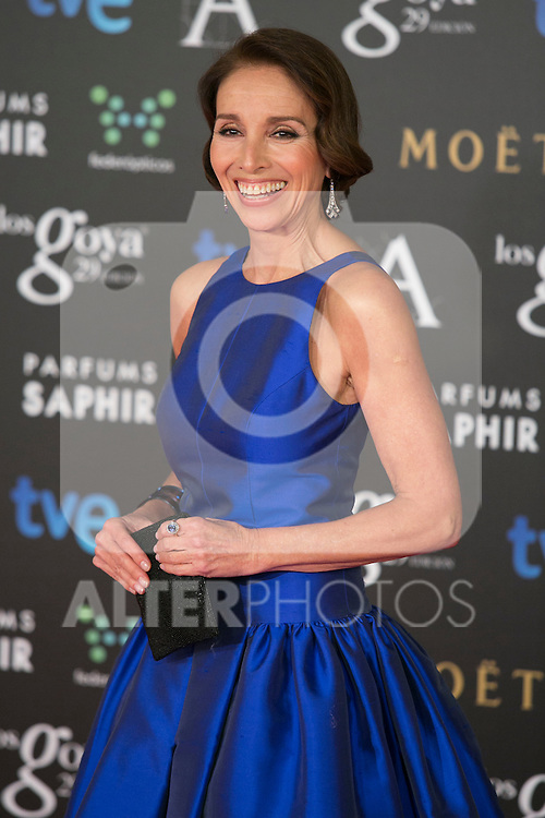 Ana Belen attend the 2015 Goya Awards at Auditorium Hotel, Madrid,  Spain. February 07, 2015.(ALTERPHOTOS/)Carlos Dafonte)