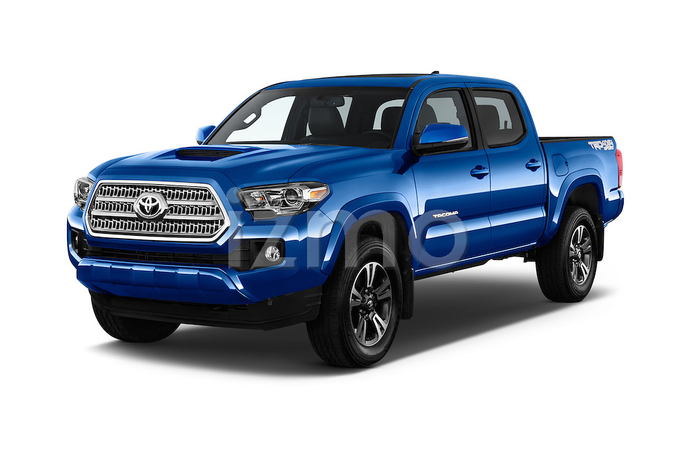 2016 Toyota Tacoma TRD Sport 4 Door Pickup Angular Front stock photos of front three quarter view