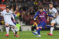 Messi<br /> <br /> Barcelona 02-02-2020 Camp Nou <br /> Football 2019/2020 La Liga <br /> Barcelona Vs Levante <br /> Photo Paco Larco / Panoramic / Insidefoto <br /> ITALY ONLY