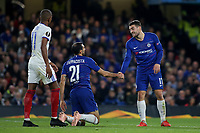 Davide Zappacosta of Chelsea and Mateo Kovacic during Chelsea vs MOL Vidi, UEFA Europa League Football at Stamford Bridge on 4th October 2018