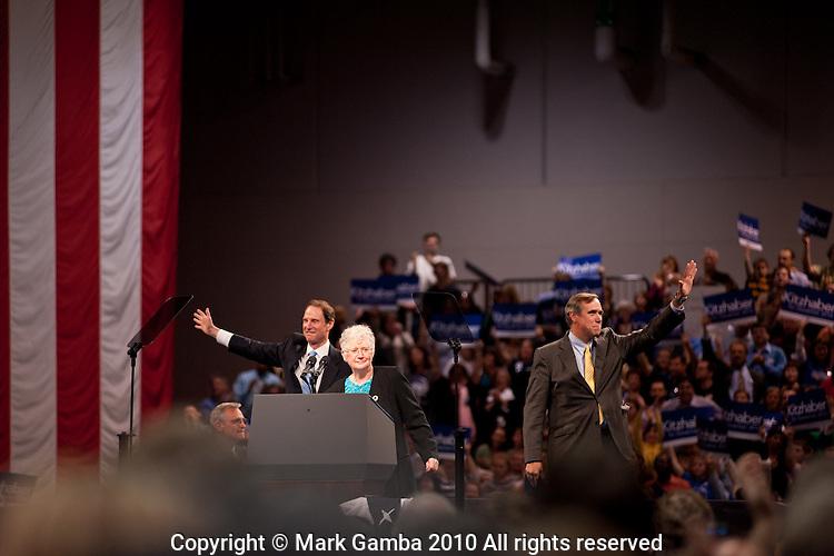 John Kitzhaber rally with President Barack Obama.