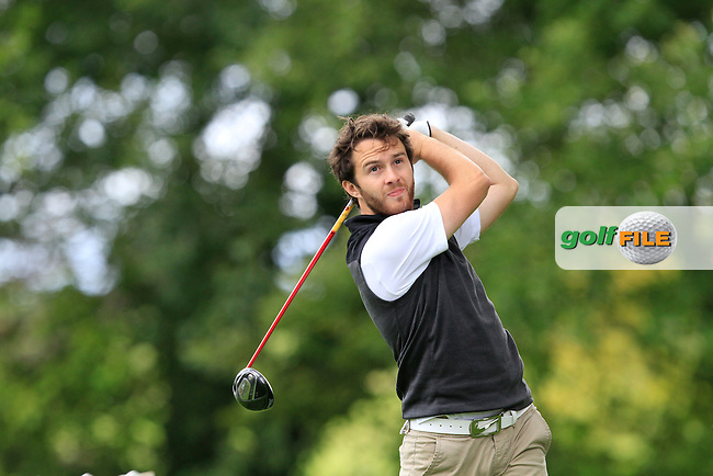 Gerard Dunne (Co. Louth) on the 8th tee during round 1 of The Mullingar Scratch Cup in Mullingar Golf Club on Sunday 3rd August 2014.<br /> Picture:  Thos Caffrey / www.golffile.ie