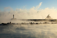 &quot;Lighthouses in Sea Smoke&quot;<br />