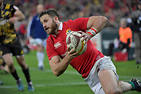 Lions&rsquo; Tommy Seymour in action during the New Zealand Lions Series - Hurricanes v British and Irish Lions at Westpac Stadium, Wellington, New Zealand on Tuesday 27 June 2017.<br /> Photo by Masanori Udagawa<br /> www.photowellington.photoshelter.com.