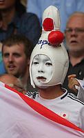 Men's Olympic Football match Spain v Japan on 26.7.12...Japanese fan, during the Spain v Japan Men's Olympic Football match at Hampden Park, Glasgow...........