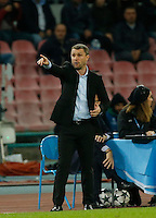 Serhiy Rebrov during the Champions League Group  soccer match between SSC Napoli and   Dinamo Kiev  at the San Paolo  Stadium inNaples November 24, 2016
