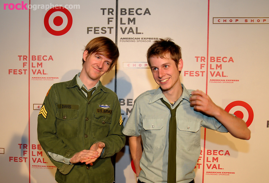 "Benjamin Davis & Sebastien Schultz from Bad Veins at the The Tribeca Film Festival 08 ""Breaking Bands"" concert."