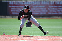 University of Cincinnati Bearcats infielder Jake Richmond (15) during practice before a game against the Rutgers University Scarlet Knights at Bainton Field on April 19, 2014 in Piscataway, New Jersey. Rutgers defeated Cincinnati 4-1.  (Tomasso DeRosa/ Four Seam Images)