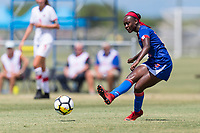 Bradenton, FL - Sunday, June 12, 2018: Estericove Joseph prior to a U-17 Women's Championship 3rd place match between Canada and Haiti at IMG Academy. Canada defeated Haiti 2-1.