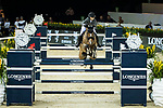 Anna-Julia Kontio of Finland riding Lorenzo competes in the Hong Kong Jockey Club Trophy during the Longines Masters of Hong Kong at the Asia World Expo on 09 February 2018, in Hong Kong, Hong Kong. Photo by Ian Walton / Power Sport Images