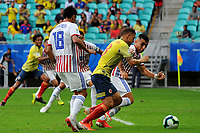 SALVADOR – BRASIL, 23-06-2019:Gustavo Cuellar de Colombia convierte el primer gol de su equipo durante partido de la Copa América Brasil 2019, grupo B, entre Colombia y Paraguay jugado en el Arena Fonte Nova de Salvador, Brasil. / Gustavo Cuellar of Colombia scores the first goal of his team during the Copa America Brazil 2019 group B match between Colombia and Paraguay played at Fonte Nova Arena in Salvador, Brazil. Photos: VizzorImage / Julian Medina / Cont /