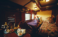 Rovos Rail . Champagne breakfast in bed in a De Luxe Suite.