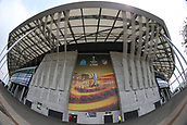 16th May 2018, Stade de Lyon, Lyon, France; Europa League football final, Marseille versus Atletico Madrid; A fish-eye view outside of the stadium before fans arrive