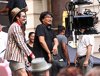 NEW YORK, NY-July 16: Bong Joon-Ho, Jake Gyllenhaal shooting on location for Netflix & Plan B Enterainment  film Okja in New York. NY July 16, 2016. Credit:RW/MediaPunch