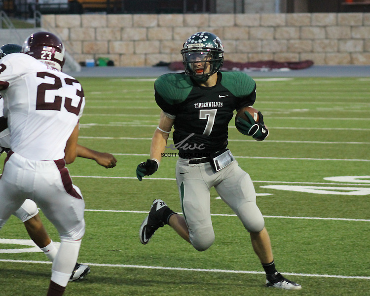 The Cedar Park Timberwolves football team hosts Stephen F. Austin High, on September 16, 2011, at Gupton Stadium in Cedar Park, Texas.