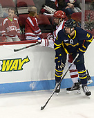 Ryan Cloonan (BU - 8), Ryan Cook (Merrimack - 2) - The visiting Merrimack College Warriors defeated the Boston University Terriers 4-1 to complete a regular season sweep on Friday, January 27, 2017, at Agganis Arena in Boston, Massachusetts.The visiting Merrimack College Warriors defeated the Boston University Terriers 4-1 to complete a regular season sweep on Friday, January 27, 2017, at Agganis Arena in Boston, Massachusetts.