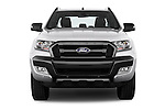 Car photography straight front view of a 2016 Ford Ranger Wildtrak 4 Door Pickup Front View