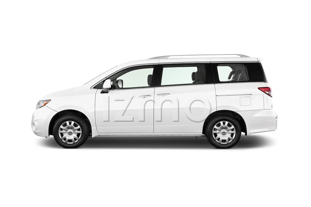 Car driver side profile view of a 2015 Nissan Quest s 5 Door Mini Van