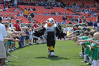 DC United Mascot Talon during the introduction of the teams. DC United defeated Chivas USA 2-1, at RFK Stadium in Washington DC, Sunday May 6, 2007.