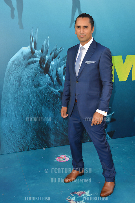 """LOS ANGELES, CA - August 06, 2018: Cliff Curtis at the US premiere of """"The Meg"""" at the TCL Chinese Theatre"""